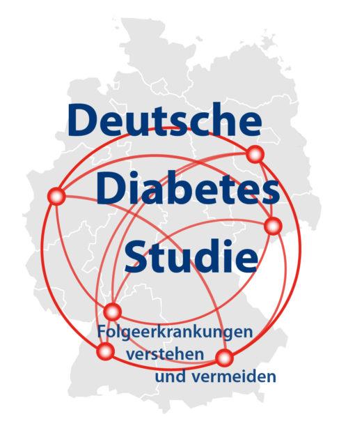 """Logo der Deutschen Diabetes Studie mit dem Slogan """"Folgeerkrankungen verstehen und vermeiden"""""""