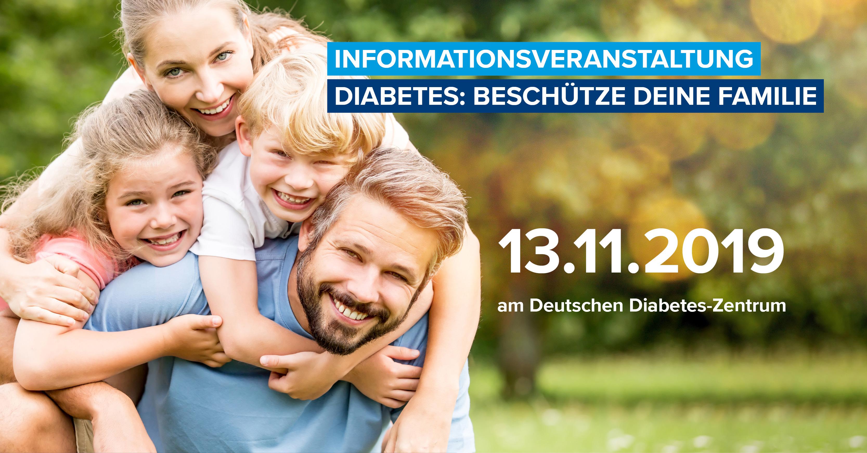 """Informationsveranstaltung """"Diabetes: Beschütze deine Familie"""" am DDZ zum Weltdiabetestag am 13.11.2019"""
