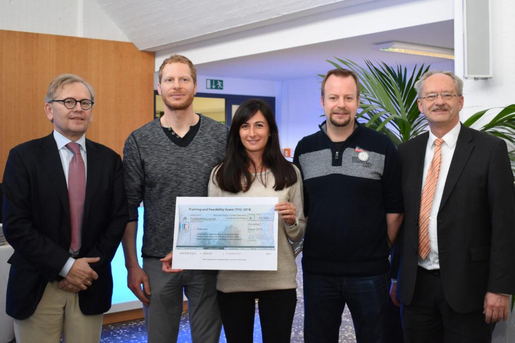Prof. Dr. Michael Roden, Dr. Dominik Pesta, Dr. Elisabetta De Filippo, Dr. Torben Stermann und Andreas Fidelak