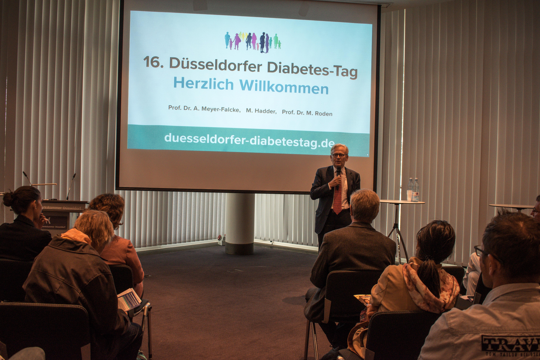 Eröffnung des Düsseldorfer Diabetes-Tages 2018 durch Prof. Dr. Michael Roden, Wissenschaftlicher Direktor und Vorstand des DDZ