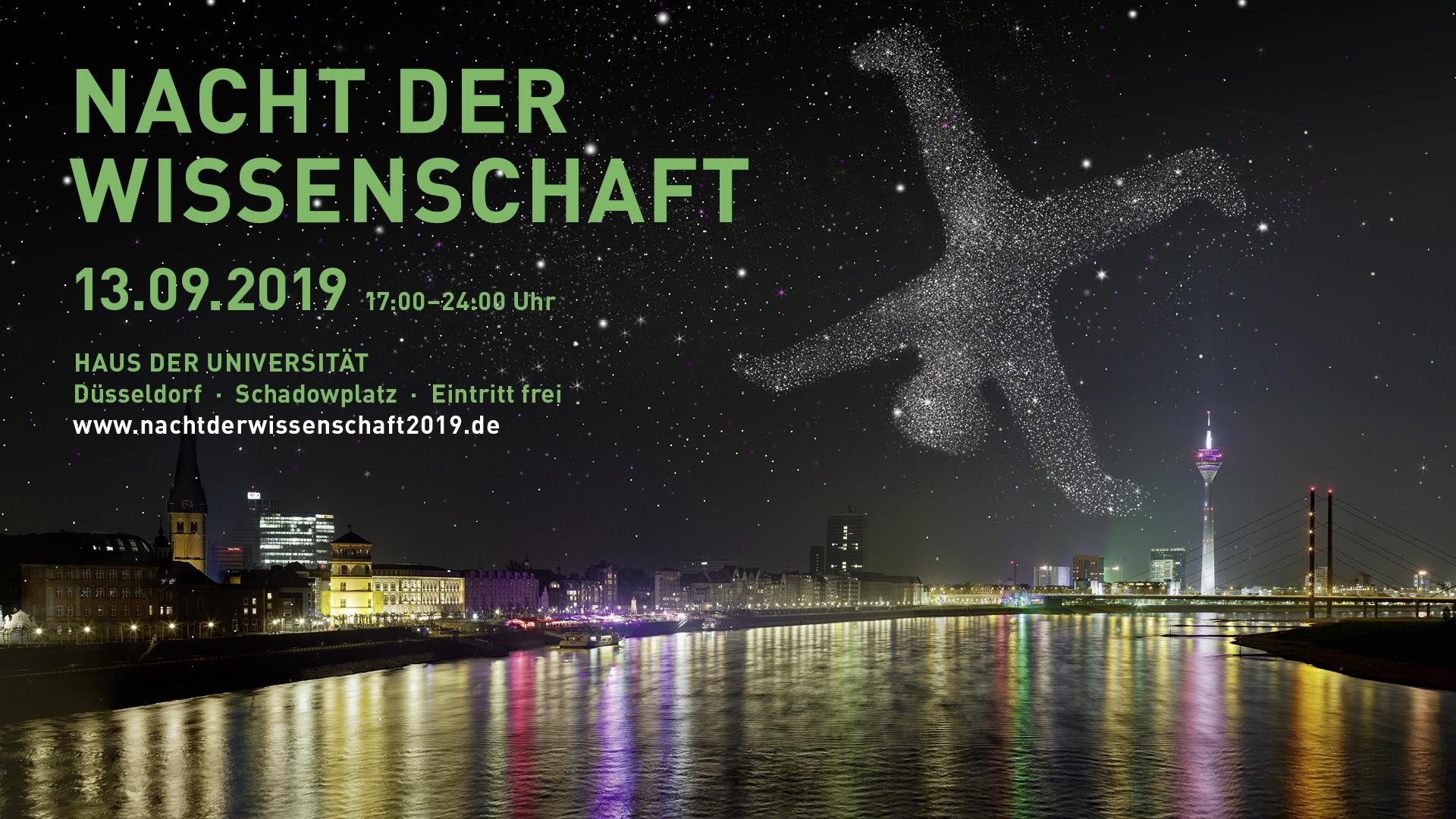 """Veranstaltung """"Nacht der Wissenschaft"""" der HHU am 13.09.2019"""