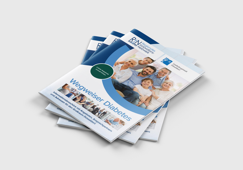 Mehrere Printauflagen des RIN Diabetes Wegweisers