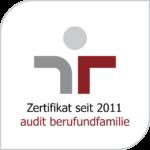 """Logo des Zertifikats zum bestandenen Audit """"berufundfamilie"""""""