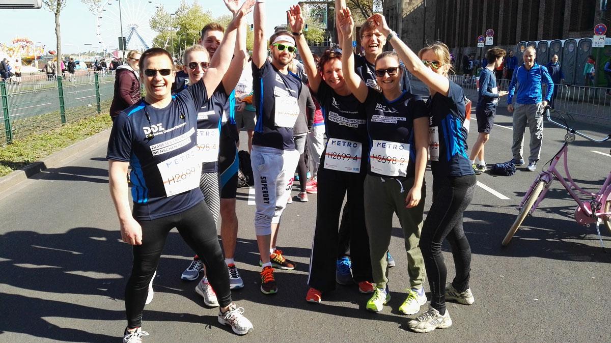Zwei DDZ-Staffeln nahmen beim 15. Metro Group Marathon in Düsseldorf am Rhein teil