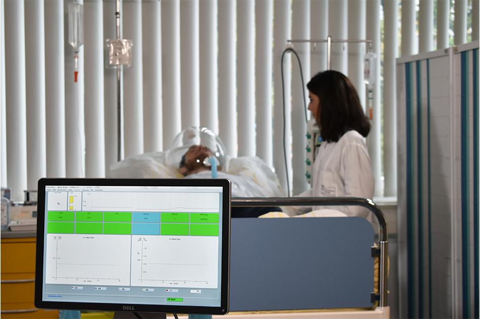 Durchführung einer indirekten Kalorimetrie im klinischen Studienzentrum